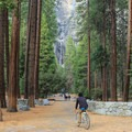 Lower Yosemite Falls.- Yosemite Valley Bicycle Loop