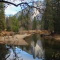 Sentinel Rock reflections.- Yosemite Valley Bicycle Loop