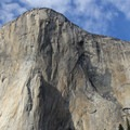 The big walls of El Capitan as seen from El Capitan Meadow.- Yosemite Valley Bicycle Loop