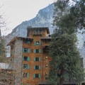 The Ahwahnee's north facade.- The Ahwahnee Hotel