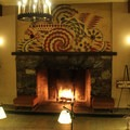 The Ahwanhnee's interior design patterns are inspired by Native American art.- The Ahwahnee Hotel