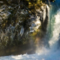 Rainbows are not uncommon in the mist.- Spirit Falls Hike