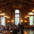 The Ahwahnee Dining Room.- The Ahwahnee Hotel