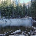 Before plunging over Vernal Falls, the Merced River collects at Emerald Pool. - Vernal Falls Hike via Mist Trail