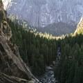 Merced River Canyon.- Vernal Falls Hike via Mist Trail