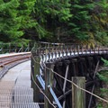 Train trestle on the Upper Salmonberry River Trail.- Upper Salmonberry River Trail