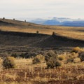 View southeast towards Steens Mountain (9,734') from Diamond Craters Outstanding Natural Area.- Diamond Craters Outstanding Natural Area