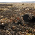 Small lava tube in Diamond Craters Outstanding Natural Area.- Diamond Craters Outstanding Natural Area