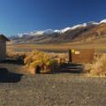 Vault toilet facility at Mann Lake Recreation Site.- Mann Lake Recreation Site