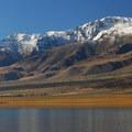 Mann Lake and Steens Mountain (9,734').- Mann Lake Recreation Site