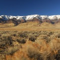 Steens Mountain (9,734') en route to Mickey Hot Springs.- Mickey Hot Springs