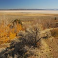 Beginning of the Pike Creek Mine Trail looking over the Alvord Desert.- Pike Creek Mine Hike