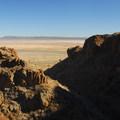 Looking over the Alvord Desert on the Pike Creek Mine Hike. Needle Hole is on the left.- Pike Creek Mine Hike