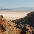 Looking over the Alvord Desert on the Pike Creek Mine Hike.- Pike Creek Mine Hike