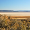 View of Alvord Desert from Pike Creek Campsites.- Pike Creek Campsites