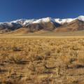 Steens Mountain (9,734') from the Alvord Desert's northern end.- Alvord Desert
