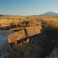 An old borax trough at Borax Lake and Hot Springs.- Borax Lake + Borax Lake Hot Springs