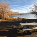 Lakeside campsite at Fish Lake Campground.- Fish Lake Recreation Site Campground