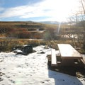 Picnic area at Pate Lake, across from Fish Lake.- Fish Lake Recreation Site Campground