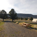 A typical RV site at Steens Mountain Resort Campground.- Steens Mountain Wilderness Resort Campground