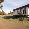 Typical 'cabins' at Steens Mountain Resort Campground.- Steens Mountain Wilderness Resort Campground