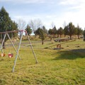 The playground at Steens Mountain Resort Campground.- Steens Mountain Wilderness Resort Campground