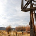 A butcher's hanger in the P Ranch Long Barn.- P Ranch Long Barn