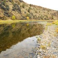 The John Day River from Big Bend Recreation Site.- Big Bend Recreation Site