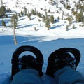 A well-deserved snowshoe break above the Red Lake drainage.- Red Lake