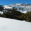 The view from above Red Lake west to Carson Pass.- Red Lake