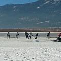 Ice hockey practice.- Little Washoe Lake