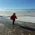 Ice skating on Little Washoe Lake.- Little Washoe Lake