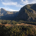 Columbia Rock Hike: View of Yosemite Valley.- Columbia Rock Hike