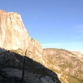 Columbia Rock Hike: View of Upper Yosemite Falls (1,430').- Columbia Rock Hike