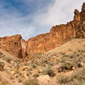 The north side of the Honeycombs offers great opportunities for day hikes.- The Honeycombs