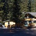 The general store and main office of Shelter Cove Resort.- Shelter Cove Resort + Marina