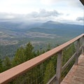 On the deck at Green Ridge Lookout.- Green Ridge Lookout