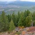 Looking out over the Deschutes National Forest from Green Ridge Lookout.- Green Ridge Lookout