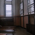 Today's empty Alcatraz Library once contained 10,000 to 15,000 books.- Alcatraz Island