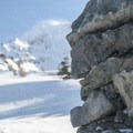 Mount Hood (11,250') and the McNeil Point Shelter.- Mount Hood: Sandy Glacier Ice Caves