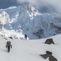 En route to the Sandy Glacier Caves.- Mount Hood: Sandy Glacier Ice Caves