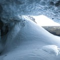 Mount Hood, Sandy Glacier Caves: Pure Imagination's lower entrance.- Mount Hood: Sandy Glacier Ice Caves