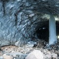 Mount Hood, Sandy Glacier Caves: inside Pure Imagination.- Mount Hood: Sandy Glacier Ice Caves
