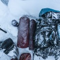 Snow camping equipment.- Mount Hood, Sandy Glacier Ice Caves