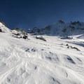 Mount Hood (11,250') from the Sandy Glacier.- Mount Hood: Sandy Glacier Ice Caves