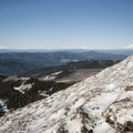 View of Mount St. Helens (8,365'), Mount Rainier (14,411'), and Mount Adams (12,281') from just above McNeil Point.- Mount Hood: Sandy Glacier Ice Caves