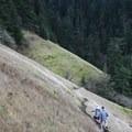 The Starvation Ridge Trail before Lancaster Falls.- Starvation Ridge Waterfall Loop Hike