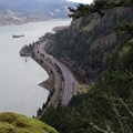 The first major view of the Columbia River Gorge from the Starvation Ridge Trail.- Starvation Ridge Waterfall Loop Hike