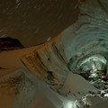 Mount Hood, Sandy Glacier Caves: main entry to Snow Dragon.- Mount Hood, Sandy Glacier Ice Caves