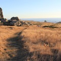 Sunset Boulders, a group of landlocked haystack rocks, along the Kortum Trail.- Kortum Trail